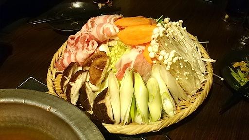 麦豚と季節野菜の茶しゃぶ~緑茶仕立て~