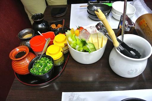 しゃぶしゃぶタレとスティック野菜
