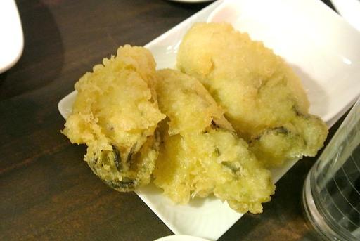 広島産カキの天ぷら