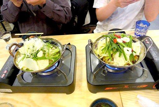モツ鍋は二種類。