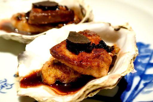 牡蠣のロッシーニ