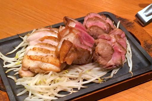 選べる肉盛り(大山地鶏、牛サーロイン、ラム)