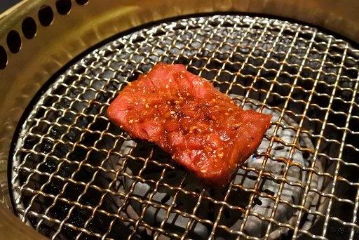 赤身肉の味噌たま