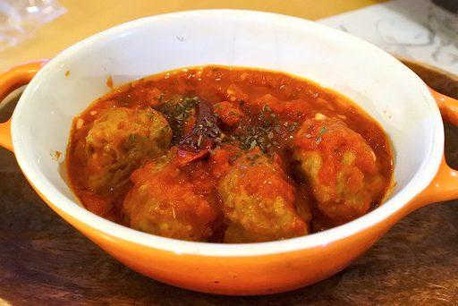 ポルペッティー二のトマト煮込み クミンの香り