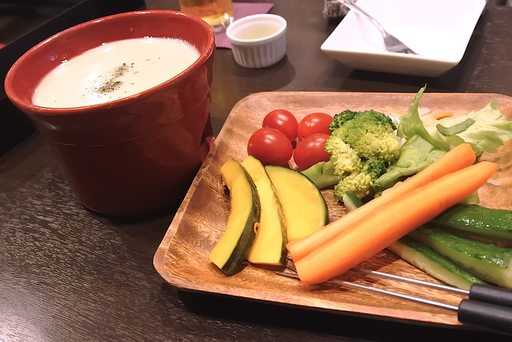 9種の有機野菜 de 彩りバーニャカウダ