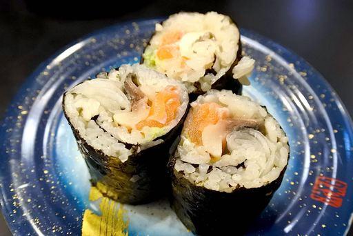 鯖サーモン巻き
