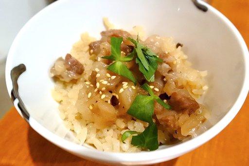 筍と有馬山椒の炊き込みご飯