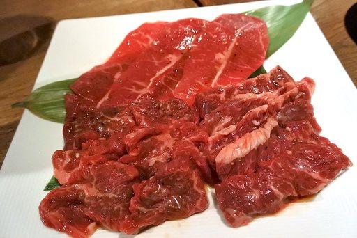 赤身熟成焼肉3種盛合せ
