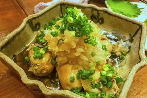蒸し牡蠣のおろしぽん酢