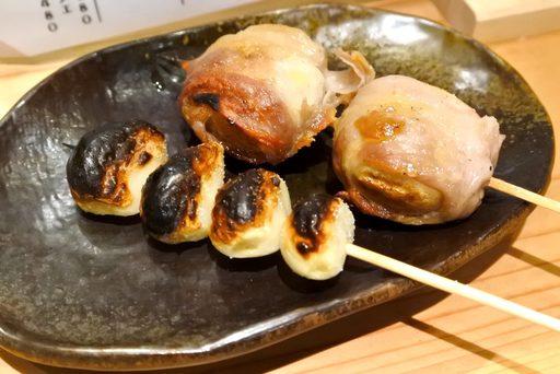 にんにく串&肉巻きマッシュルーム