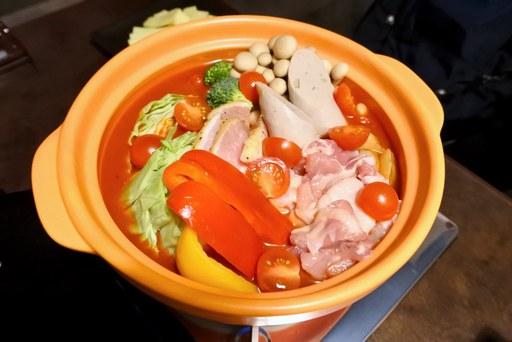 ラクレットチーズのトマト鍋