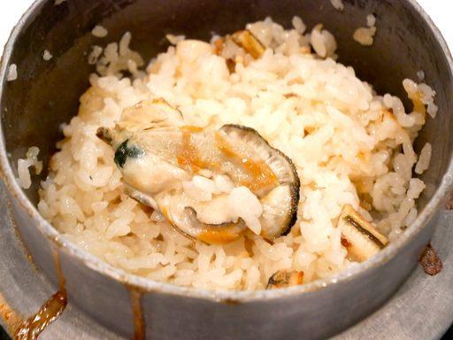 牡蠣・焼穴子・小柱釜飯