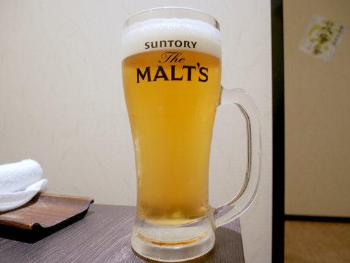 生ビールはモルツ