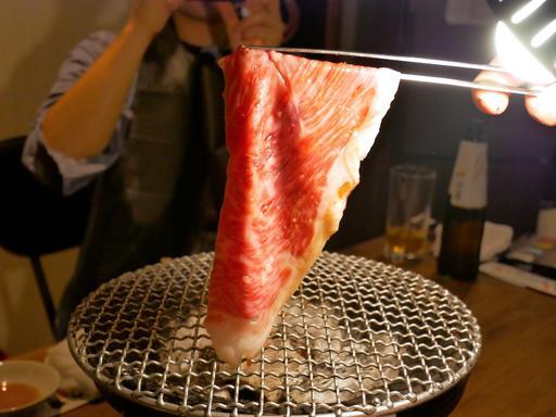 イチボの一枚焼き すき焼き風 日本一卵を絡めて