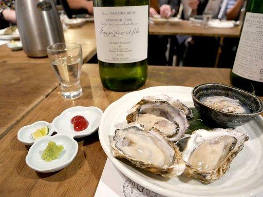 生牡蠣4種食べ比べ  ソガノベール 小布施ワイナリー