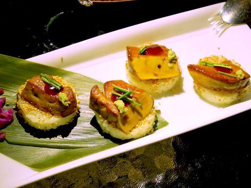 フォアグラとリゾットの寿司仕立て