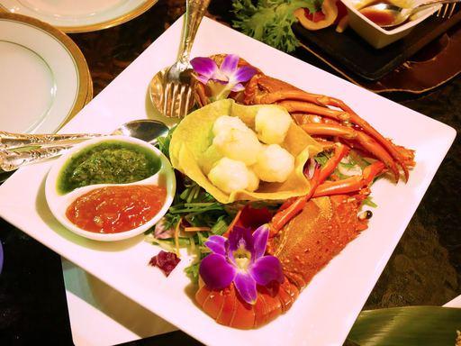 中国料理「竹游林」の国産伊勢海老のチャイニーズソース