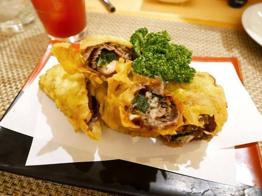 牛肉とチーズの天ぷら