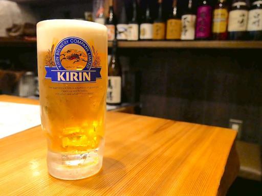 生ビールはキリン一番搾り