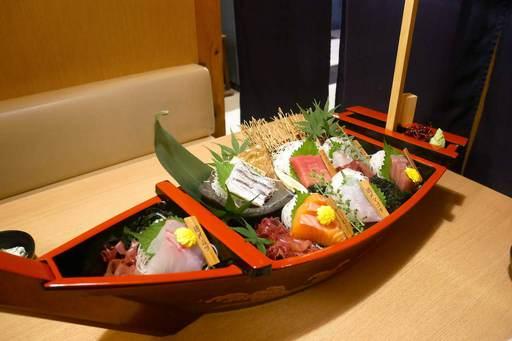 舟盛り鮮魚7点盛り