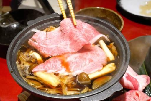 常陸牛のすき焼き風 陶板焼き