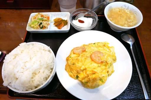 海老と卵炒め