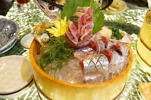 秋刀魚の活け造り