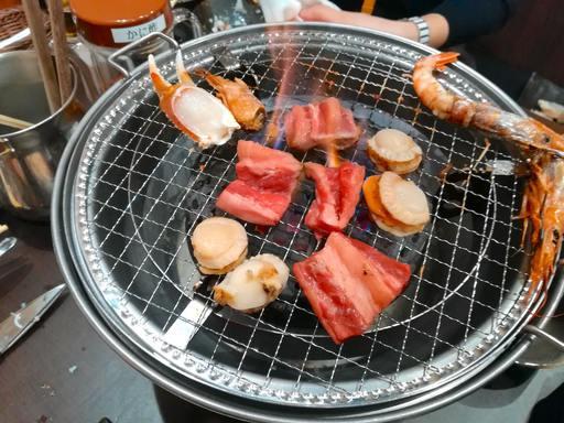 焼き蟹&焼肉