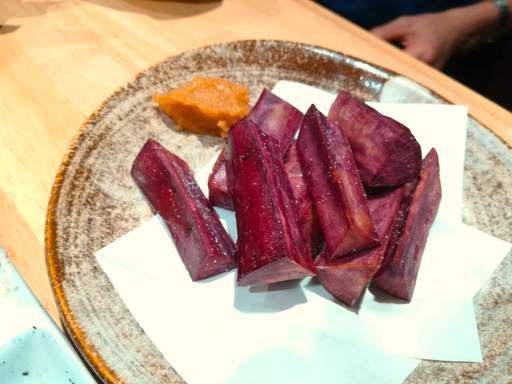 紫芋素揚げ
