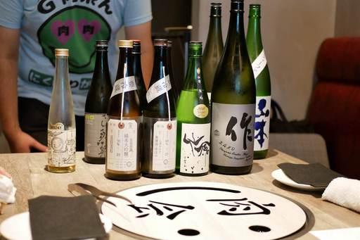 出てくる出てくる日本酒たち