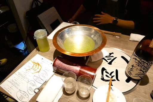 鰹出汁の鍋