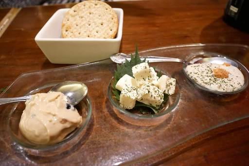クリームチーズ3種盛り合わせ