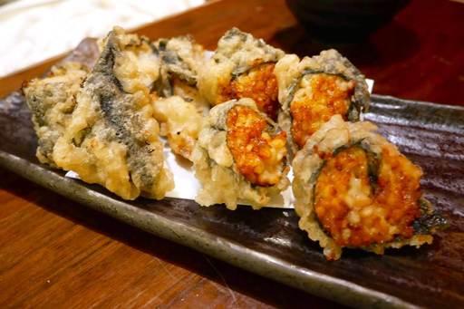 納豆の磯辺揚げ天ぷら&山芋の磯辺揚げ天ぷら