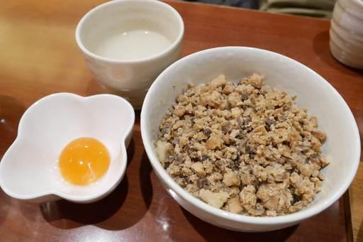 そぼろ丼+卵黄