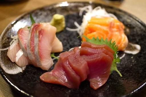旬鮮魚の刺身3点盛り合わせ