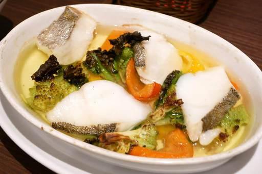 塩鱈と冬野菜のアヒージョ