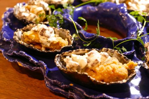 牡蠣のセモリナ揚げ 和牛タルタルソース