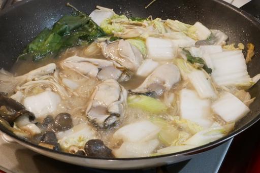 さらに野菜牡蠣肉