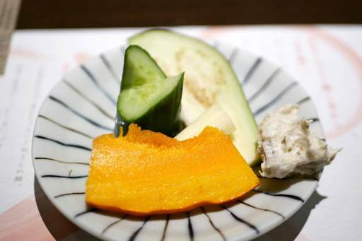 三浦地野菜盛り合わせ  地きんめ鯛そぼろマスカルポーネディップ