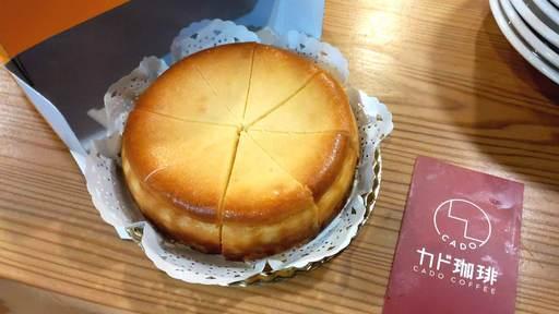 カド珈琲のクラシックチーズケーキ