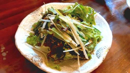 ネギとレタスのサラダ