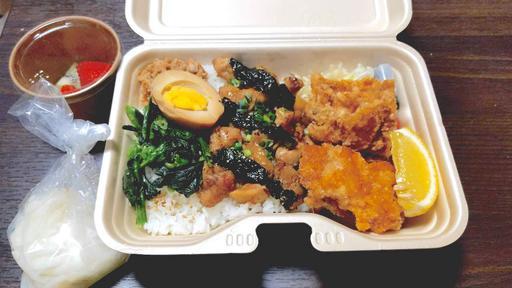 焼鳥と東京醤油ぶっかけ唐揚げ丼