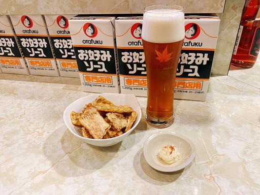 宮島ビールとイカ焼き