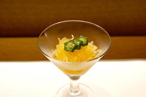 錦糸瓜とオクラの酢の物
