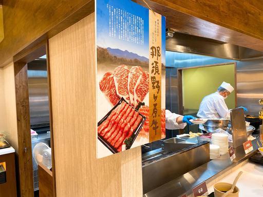 ライブキッチンでお肉